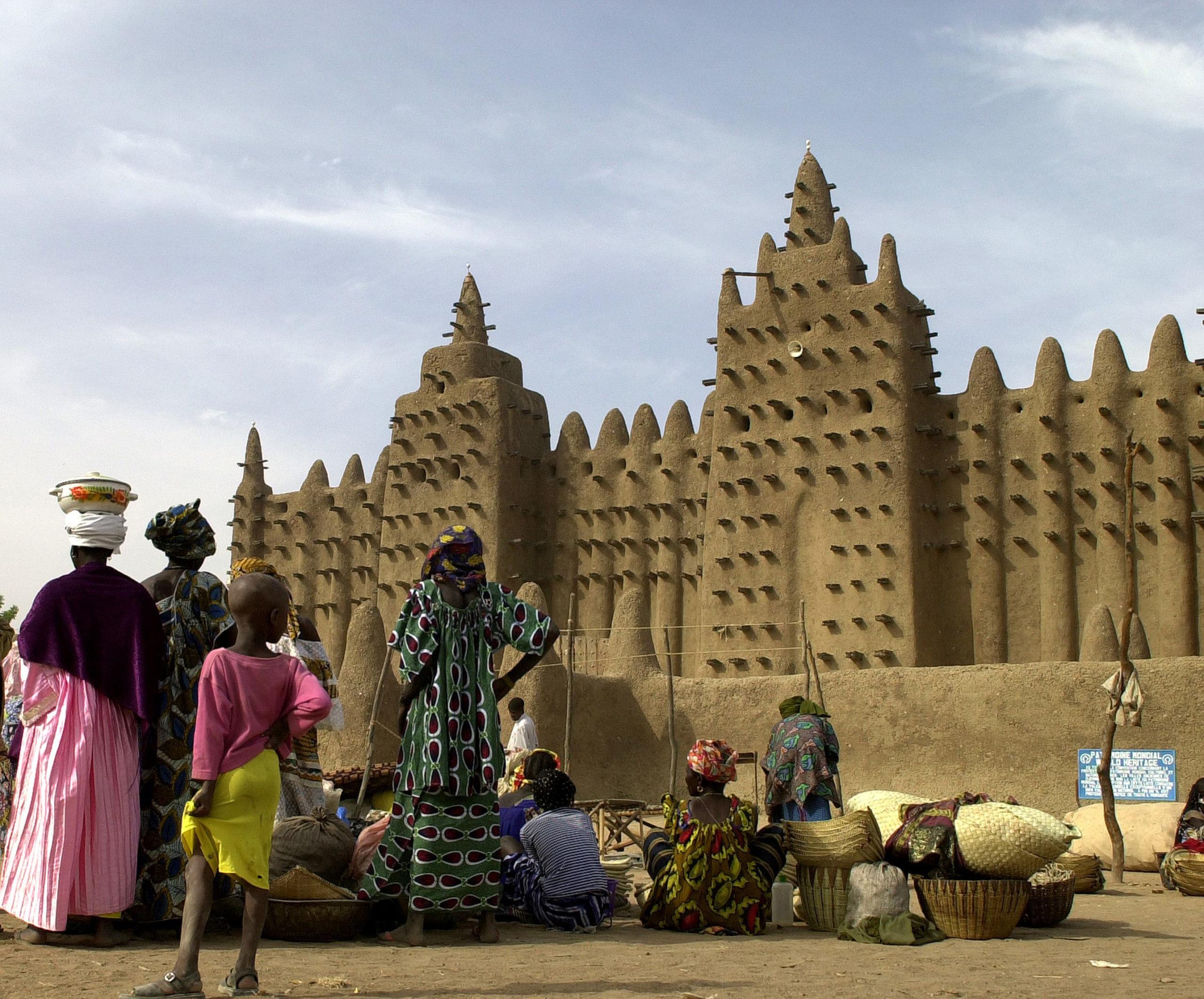 Grande mosquée de Djenné,(Mali) patrimoine mondiale de l'UNESCO