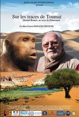 """Affiche du documentaire """"Sur les traces de Toumaï"""""""