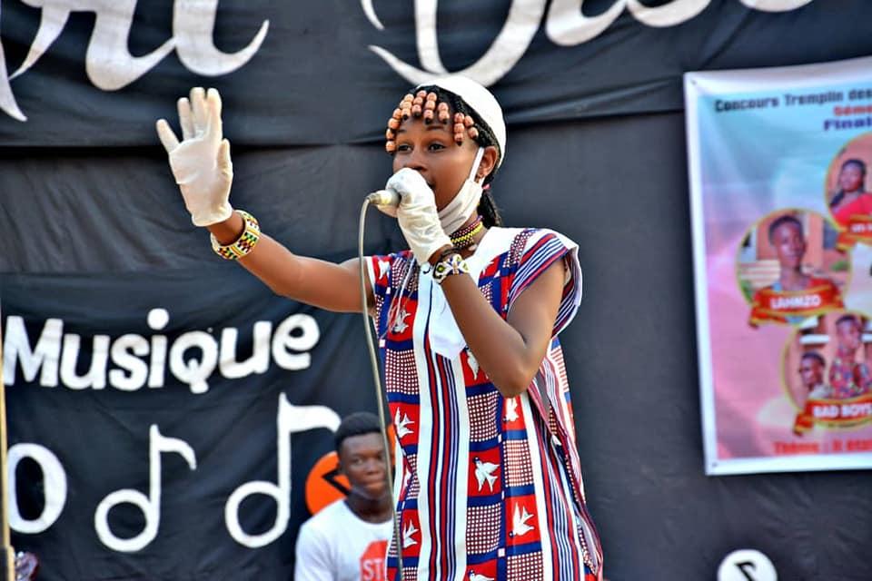 Marie Diallo, lauréate du premier prix de Tremplin des jeunes talents 2020