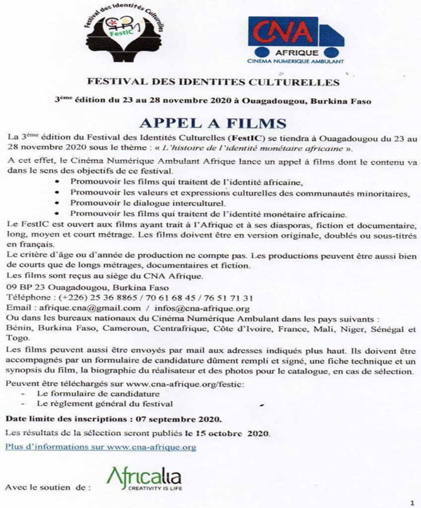 Appel à films FestIC 2020