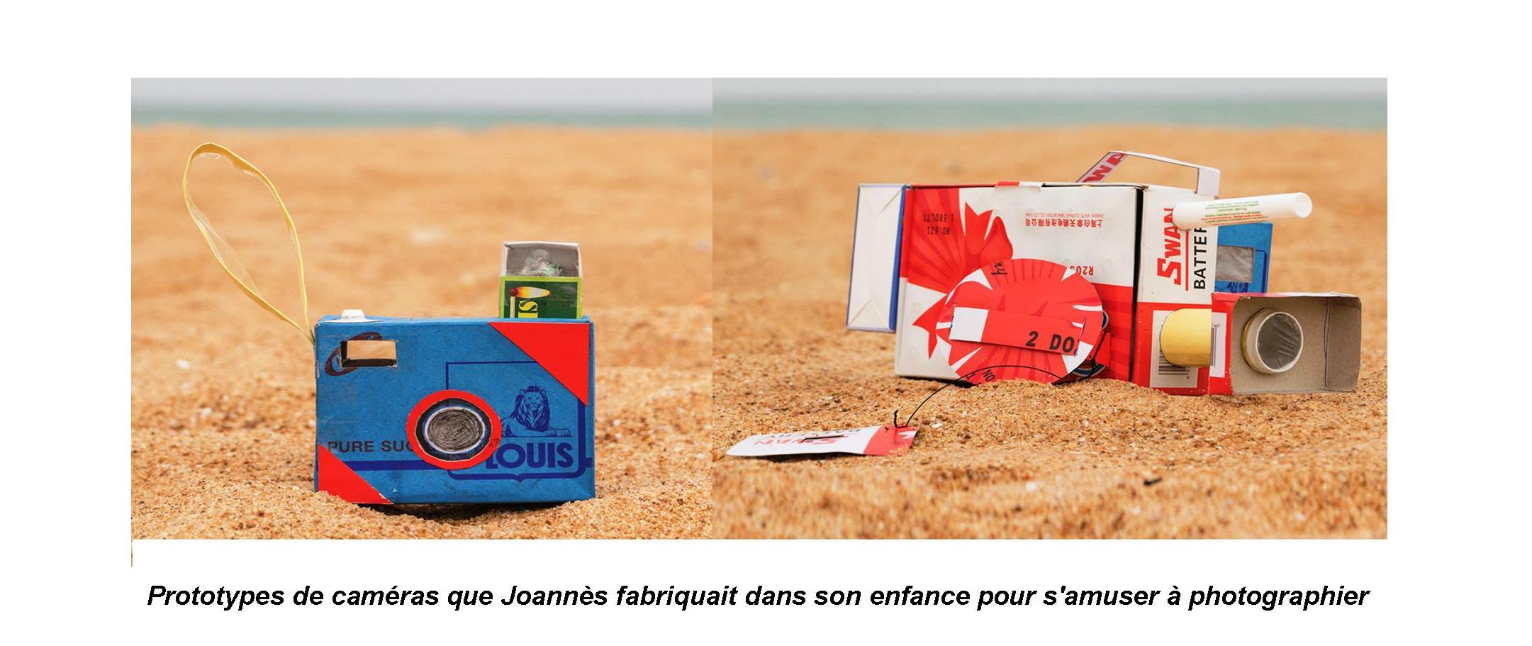 Prototypes de caméras que Joannès fabriquait dans son enfance pour s'amuser à photographier