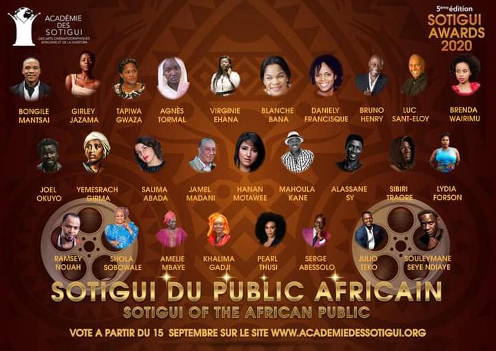 Nominés 2020 Sotigui du Public Africain